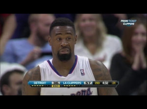 DeAndre Jordan's reaction to his demolition of Brandon Knight.